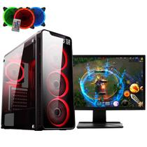 Computador Gamer Intel Core i3-7100 (GeForce GTX 1050 Ti 4GB) 8GB 1TB Monitor 21,5 LED FullHD EasyPC -