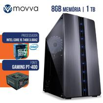COMPUTADOR GAMER INTEL I5 7400 3.0GHZ 7ª GER MEM 8GB HD 1TB HDMI/VGA FONTE 400W LINUX MVGAI5H1101T8 - Movva