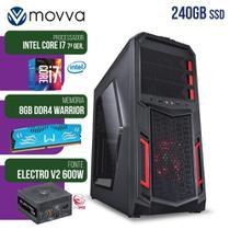 Computador gamer mvx7 intel i7 7700 3.6ghz mem 8gb ssd 240gb - fonte 600w - linux - mvx7b250s2408 - Movva