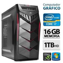 Computador Gráfico Intel Core i7, 16GB Ram, HD 1TB, Geforce GT 730, Windows 7 - Alfatec