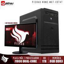 Computador Home Office Pichau, Intel Celeron J1800, 8GB, HD 1TB, Monitor 19'5 + Kit Teclado e Mouse -