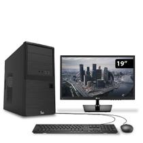 Computador HomeOffice Intel Core i3 7ª Geração 7100 4GB 500GB DVD com Monitor 19.5 LG 3green