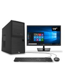 Computador HomeOffice Intel Core i5 7ª Geração 7400 8GB 1TB Windows 10 com Monitor 19.5 LG 3green