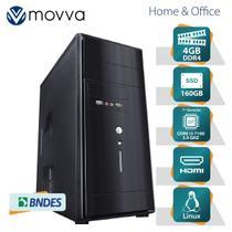 Computador hydro intel i3 7100 3.9ghz 7ª geração memoria 4gb ssd 160gb hdmi/vga linux fonte 200w - m - Movva