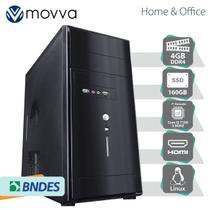 Computador Hydro Intel I3 7100 3.9ghz 7ª Geração Memoria 4gb Ssd 160gb Hdmi/Vga Linux Fonte 200w - Movva