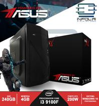 Computador I3 9100F 4GB SSD 240GB POWERED BY ASUS Win 10 Pro BRX