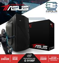 Computador I3 9100F 8GB SSD 240GB POWERED BY ASUS Win 10 Pro BRX