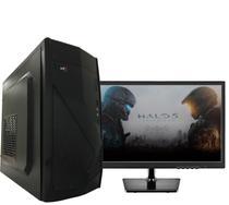 Computador i7 com Monitor LED 8GB 2TB DVD Fonte PFC Ativo Windows 10 Pro BRPC - Br-pc