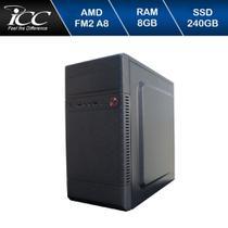 Computador Icc  Amd Fm2 A8 8gb de Ram Ssd 240 Gb Windows 10 Dvdrw -
