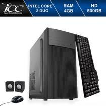 Computador Icc Intel Core 2 Duo E8400 4gb de Ram Hd 500 Gb Kit Multimídia Windows 10 -
