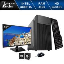 Computador ICC Intel Core I5 3.20 ghz 4GB HD 320GB Kit Multimídia HDMI FULLHD Monitor LED -