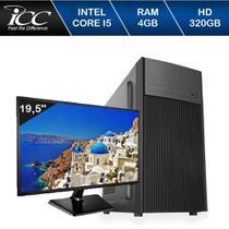 Computador ICC IV2540D3M19 Intel Core I5 3.20 ghz 4GB HD 320GB DVDRW HDMI FULL HD Monitor LED 195 -
