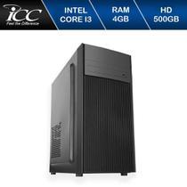 Computador ICC Vision IV7341- Processador intel I3 7  Geração, RAM 4GB HD 500GB -
