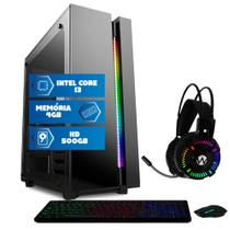 Computador Intel Core i3 4GB HD 500GB Mouse teclado mousepad Quantum Premium -