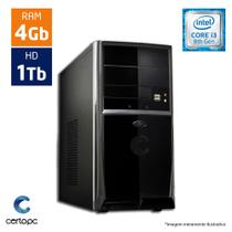 Computador Intel Core I3 8ª Geração 4GB HD 1TB Certo PC Smart 1007
