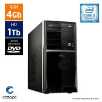 Computador Intel Core I3 8ª Geração 4GB HD 1TB DVD Certo PC Smart 1010