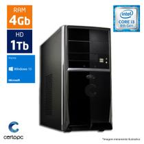 Computador Intel Core I3 8ª Geração 4GB HD 1TB Windows 10 SL Certo PC Smart 1008