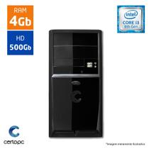 Computador Intel Core I3 8ª Geração 4GB HD 500GB Certo PC Smart 1001