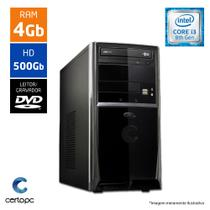 Computador Intel Core I3 8ª Geração 4GB HD 500GB DVD Certo PC Smart 1004