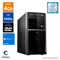 Computador Intel Core I3 8ª Geração 4GB HD 500GB DVD Windows 10 SL Certo PC Smart 1005