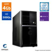 Computador Intel Core I3 8ª Geração 4GB HD 500GB Windows 10 PRO Certo PC Smart 1003