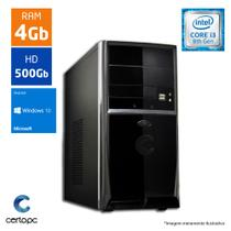 Computador Intel Core I3 8ª Geração 4GB HD 500GB Windows 10 SL Certo PC Smart 1002