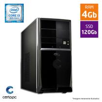 Computador Intel Core I3 8ª Geração 4GB SSD 120GB Certo PC Smart 1019