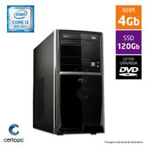 Computador Intel Core I3 8ª Geração 4GB SSD 120GB DVD Certo PC Smart 1022