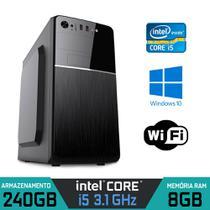 Computador Intel Core i5 3.1Ghz RAM 8GB SSD 240GB WI-FI  Windows 10 - ALFATEC