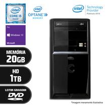 Computador Intel Core i5 7ª Geração 20GB HD 1TB DVD Windows 10 PRO Certo PC SELECT 057