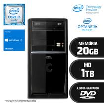 Computador Intel Core i5 7ª Geração 20GB HD 1TB DVD Windows 10 SL Certo PC SELECT 056