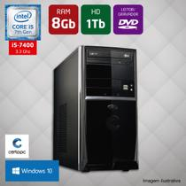 Computador Intel Core i5 7ª Geração 8GB HD 1TB DVD Windows 10 Certo PC SELECT 032