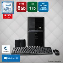 Computador Intel Core i5 7ª Geração 8GB HD 1TB Windows 10 PRO Certo PC SELECT 046