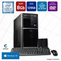 Computador Intel Core i5 7ª Geração 8GB SSD 120GB DVD com Windows 10 PRO Certo PC SELECT 012
