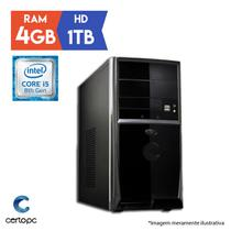 Computador Intel Core i5 8ª Geração 4GB HD 1TB Certo PC Select 1001
