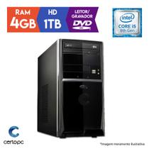 Computador Intel Core i5 8ª Geração 4GB HD 1TB DVD Certo PC Select 1004