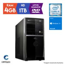 Computador Intel Core i5 8ª Geração 4GB HD 1TB DVD Windows 10 SL Certo PC Select 1005