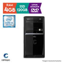 Computador Intel Core i5 8ª Geração 4GB SSD 120GB DVD Certo PC Select 1016