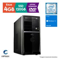 Computador Intel Core i5 8ª Geração 4GB SSD 120GB DVD Windows 10 SL Certo PC Select 1017