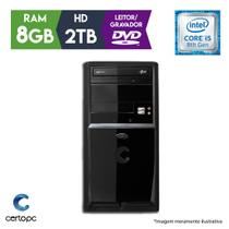 Computador Intel Core i5 8ª Geração 8GB 2TB DVD Certo PC Select 1022