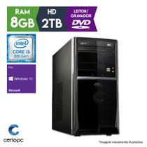 Computador Intel Core i5 8ª Geração 8GB 2TB DVD Windows 10 PRO Certo PC Select 1024