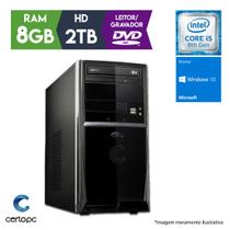 Computador Intel Core i5 8ª Geração 8GB 2TB DVD Windows 10 SL Certo PC Select 1023