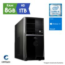 Computador Intel Core i5 8ª Geração 8GB HD 1TB Windows 10 SL Certo PC Select 1008