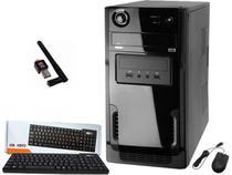 Computador intel core I5 8gb 240gb Ssd gravador dvd wifi teclado e mouse sem fio -