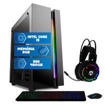 Computador Intel Core i5 8GB SSD 480GB Mouse teclado mousepad Quantum Premium -