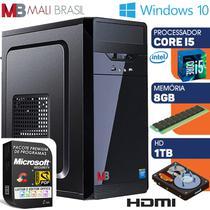 Computador Intel Core i5 Com Hdmi 8GB HD 1TB Windows 10 Desktop Pc - Mali Brasil