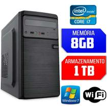 Computador Intel Core i7-2600 RAM 8GB HD 1TB Wi-fi Windows 7 - Alfatec