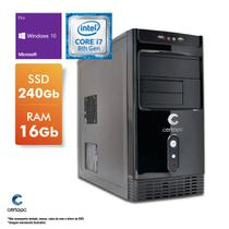 Computador Intel Core i7 8700 3.2GHz 16GB SSD 240GB Windows 10 PRO Certo PC Desempenho 1039