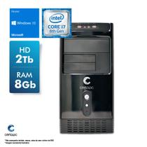 Computador Intel Core i7 8700 3.2GHz 8GB HD 2TB Windows 10 SL Certo PC Desempenho 1035