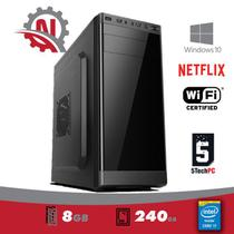 Computador Intel Core I7, 8Gb de memória, SSD 240Gb, Gravador DVD, Windows 10 Pro + WIFI, 5TECHPC